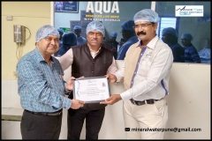 Packaged Driking Water Plant Training Certificate Distribution
