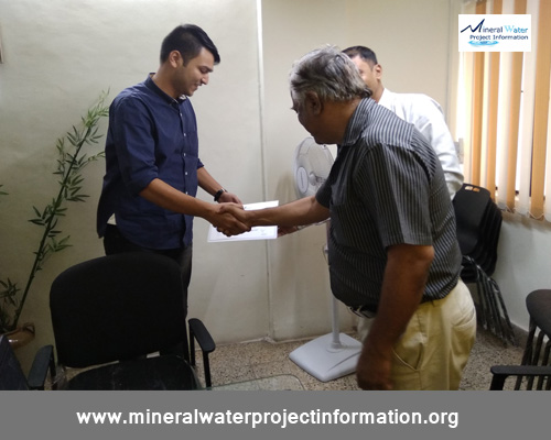 Packaged Drinking Water Plant  Training -Certificate Distribution