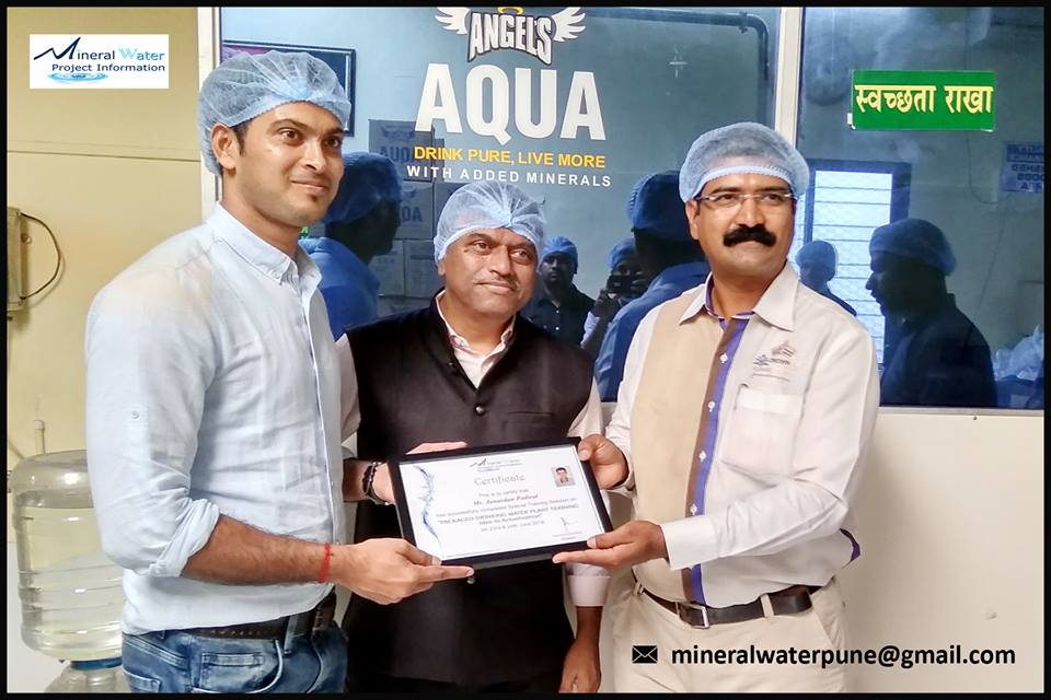 Packaged Drinking Water Plant Training Certificate Distribution