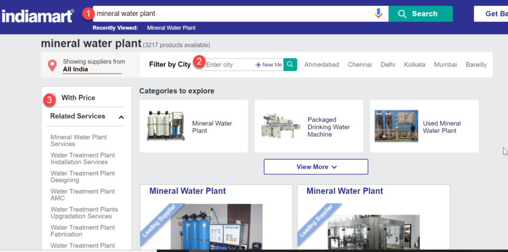 Mineral Water Plant Suppliers selection Criteria